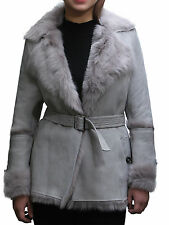 Brandslock Womens Leather blazer Jacket Genuine Sheepskin vintage