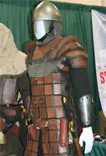 MEDIEVAL FANTASY NORMAN Mens Brown Black Leather BRIGANDINE BODY ARMOR LARP New