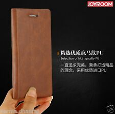 ORIGINAL JOYROOM ENGLAND Genuine Leather Flip Cover Case For APPLE iPHONE 7