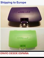 x1 TAPA PILAS BATERIA GAME BOY COLOR GBC MORADA VERDE GREEN PURPLE BATTERY COVER