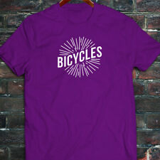 BICYCLES BIKE CYCLING ROAD MOUNTAIN SPORTS SPEED Mens Purple T-Shirt