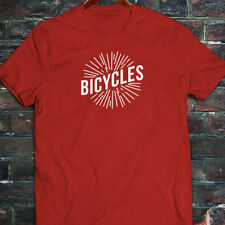 BICYCLES BIKE CYCLING ROAD MOUNTAIN SPORTS SPEED Mens Red T-Shirt
