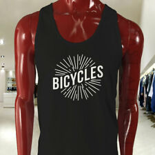 BICYCLES BIKE CYCLING ROAD MOUNTAIN SPORTS SPEED Mens Black Tank Top