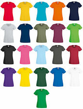 5er Packung Damen Fruit Of The Loom damen T-Shirt Kurzarm-t-Shirts