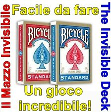 MAZZO INVISIBILE BICYCLE Invisible Deck Giochi di prestigio Magia Trucchi Carte