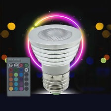 5W E27 Multi Color Change RGB LED Light Bulb Lamp with Remote Control BY