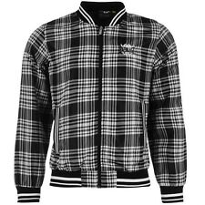 Mens Branded Everlast Casual Light Weight Full Zip Checked Rain Jacket