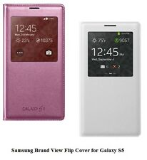 68% DISCOUNT GENUINE Samsung Brand S-View Flip Cover for Samsung Galaxy S5