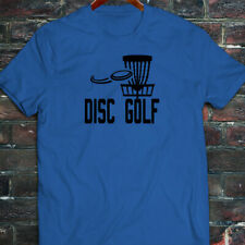 DISC GOLF FLYING DISC GAME TARGET PLAY FRISBEE Mens Blue T-Shirt