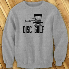 DISC GOLF FLYING DISC GAME TARGET PLAY FRISBEE Mens Gray Sweatshirt