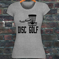 DISC GOLF FLYING DISC GAME TARGET PLAY FRISBEE Womens Gray T-Shirt