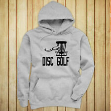 DISC GOLF FLYING DISC GAME TARGET PLAY FRISBEE Womens Gray Hoodie