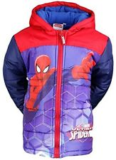 Boys Kids Official Character Marvel Ultimate Spiderman Jacket Coat Winter Puffer