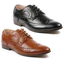 Majestic Men's Perforated Wing Tip Lace Up Oxford Dress Shoes MJ36961