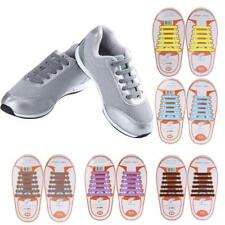 Footful No Tie Elastic Shoe Laces Silicone Trainers Shoes Adults Kids Shoelaces