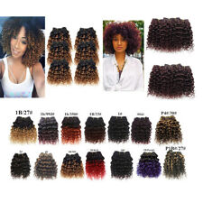 8pcs Kinky Curly Ombre 8'' 7A Human Hair Extensions Weft Full head 400g 50g/pc