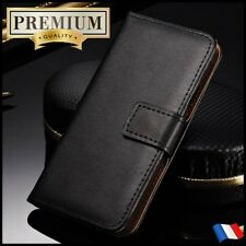 Etui Cuir housse coque Genuine Split Leather Wallet case cover HUAWEI Honor 8