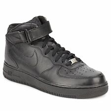 Nike  Scarpe AIR FORCE 1 MID 07 LEATHER -nero Cuoio