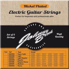 Johnny Brook Nickel Plated Steel Electric Guitar Strings Set of 6