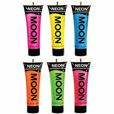 Moon Glow Neon UV Glitter Face & Body Gel - Choose from 6 colours - Fluorescent
