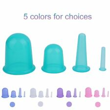 4Pcs/set Health Care Body Anti Cellulite Silicone Vacuum Massager Cupping Cup BY
