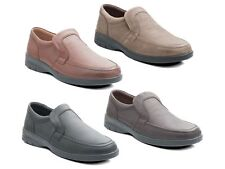 Padders LEO Mens Soft Casual Leather Comfy Slip-On Extra Wide G/H Loafers Shoes