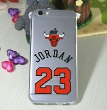 "COVER CASE CUSTODIA IPHONE 7 7S 4.7"" CHICAGO BULLS MICHEAL JORDAN NBA BASKET 23"