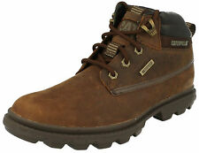 MENS CATERPILLAR GRADY WP WATERPROOF LACE UP BROWN LEATHER WORK ANKLE BOOTS