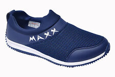 MAXX BRAND MENS NAVY CASUAL FLAT SLIPONS SPORTS SHOES 9501