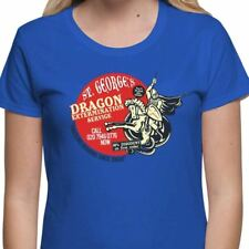 St Georges Day Dragon Extermination Funny English Patriotic Women's T-Shirt