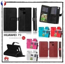 Etui coque housse portefeuille Cuir PU wallet Case Cover skin pour HUAWEI P9