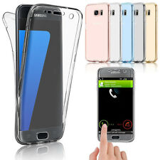 Shockproof 360° Silicone Protective Clear Case Cover For Apple & Samsung Phones