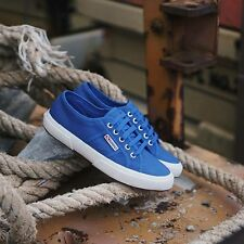 SCARPE SUPERGA 2750 NAKEDCOTU SEA BLUE ORIGINALI NUOVE n. 40-41-42-43-4-45