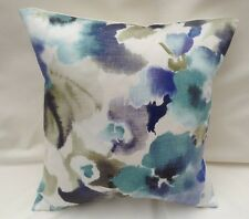 "Beautiful Sanderson Designer Cushion Cover ""VARESSE"" Blue Fabric Various Sizes"