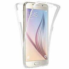 TPU Soft Clear Gel Front and Back Case Cover For Samsung Galaxy S6 S7 S7 Edge