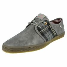 "HERREN BASE LONDON VOLLLEDER / DECKE GRAU SCHNÜRSCHUH ""SPAM 5.1cm"
