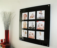 """magnetic 28.5"""" SQUARE picture photo FRAME for 9x 6x6""""  update photos in seconds"""