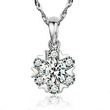 FASHIONS FOREVER® 925 Sterling Silver Snowflake Cubic-Zirconia Necklace-Pendant