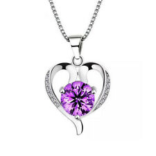 FASHIONS FOREVER® 925 Sterling Silver Heart AAA-Zirconia Necklace-Pendant