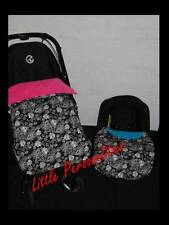 black white flower pram buggy stay put blanket or car seat blanket/apron