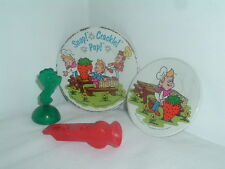 VINTAGE CEREAL PRIZE PLATE LOT  RICE KRISPIES CRISPY SNAP CRACKLE POP WHISTLE