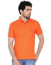 Polo Nation Men's Orange Cotton Polo Tshirt
