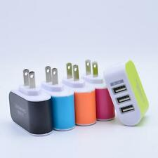 1x USB 3-Port Wall Charger plug 5V 3.1A Travel Adaptor For Mobile Phone Iph