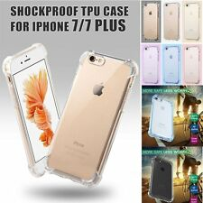NEW Crystal Clear Transparent Shockproof TPU Case Back Cover for iPhone 7/