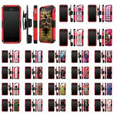 iPhone [SE/5/5S] Defender Armor Case Holster Kickstand [Screen Guard] - F