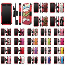 iPhone [SE/5/5S] Defender Armor Case Holster Kickstand [Screen Guard] - A