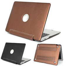"For Macbook Air Pro Retina 11 12 13 15"" PU Leather Coated Sleeve Hard Case"