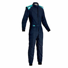 TUTA IGNIFUGA RALLY BLU NAVY OMP RACING FIRST-S SUIT 2017 IA01828B FIA 8856-2000