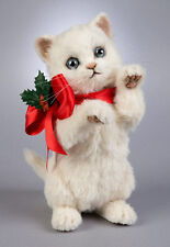 R. John Wright Holly the Christmas Kitten Cat Doll 2016 $565 Retail Mint in Box