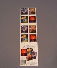 4 Flowers – US Postage Stamps Sheet 2000  USPS ($.34-No denomination on stamps)